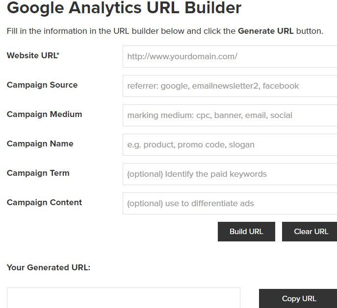 Google Analytics - URL Builder