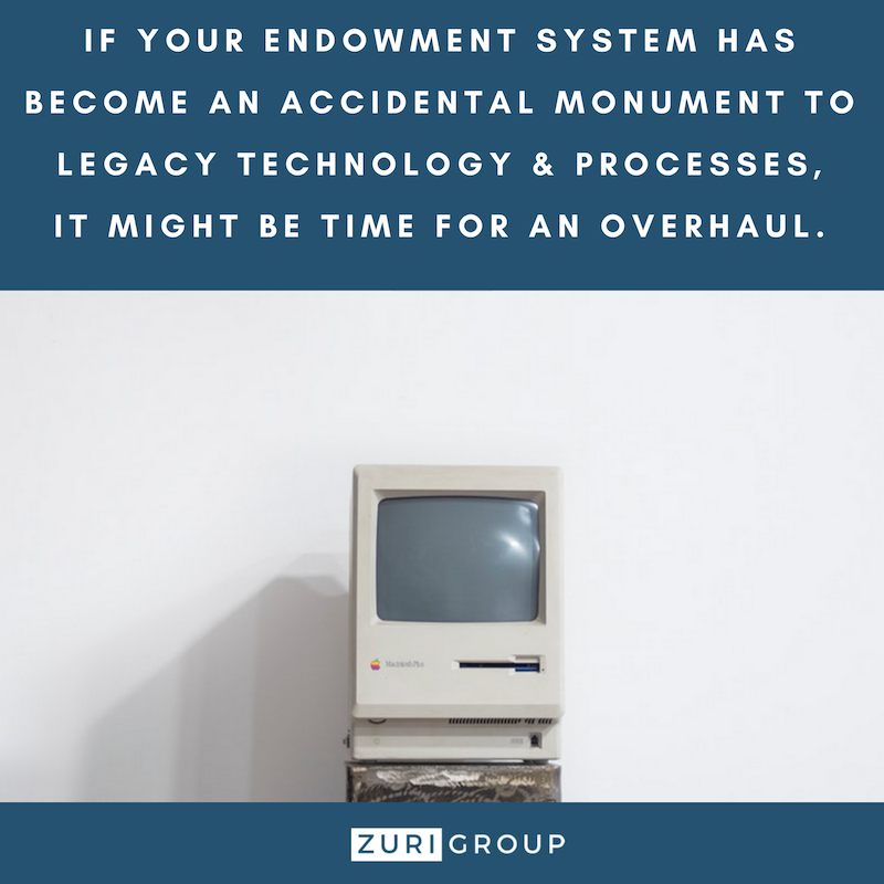 The Legacy of a 'Legacy System' - Is your endownment system in need of an overhaul?