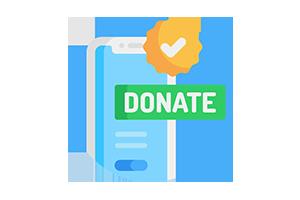 Virtual event donation
