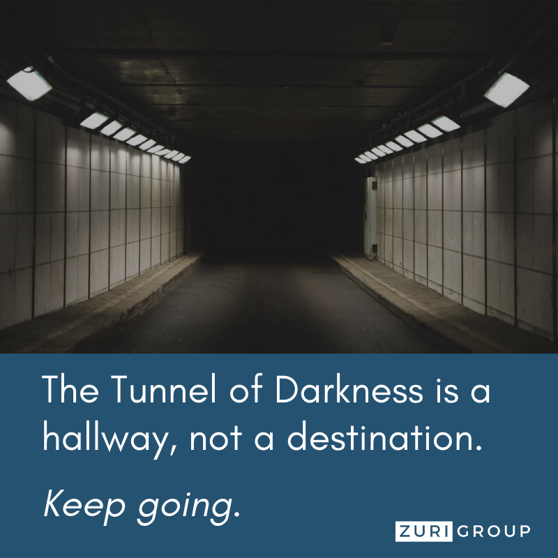 The Tunnel of Darkness is a hallway, not a destination. Keep going.