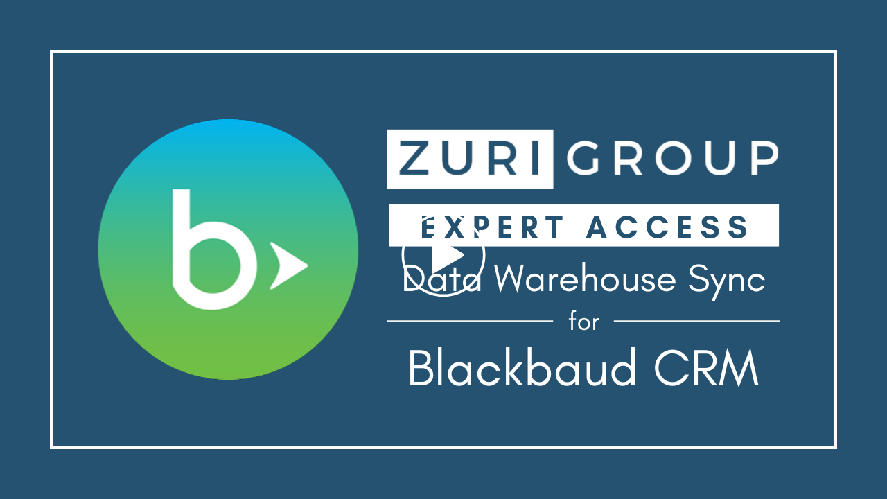 Zuri Group Expert Access Solutions   Data Warehouse Sync for Blackbaud CRM