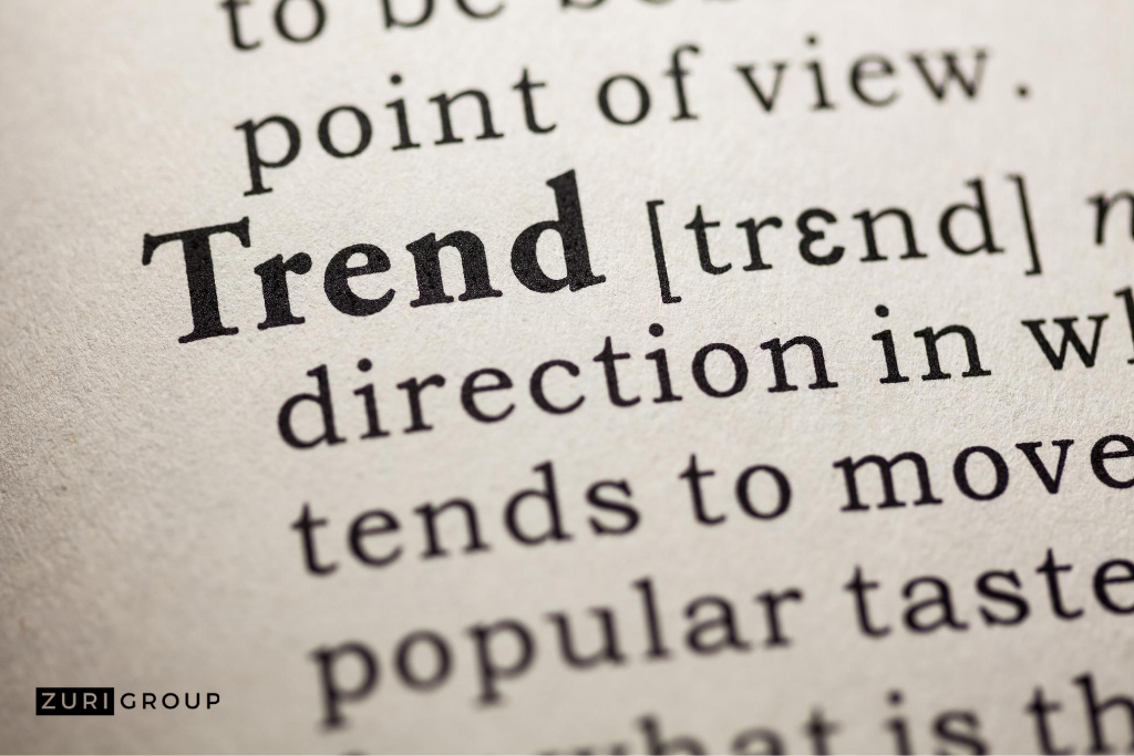 dictionary definition of trend